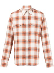 Maison Martin Margiela Plaid Print Shirt Yellow And Orange