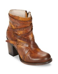 Freebird Round Toe Ankle Boots Cognac
