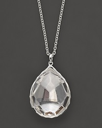Ippolita Sterling Silver Rock Candy Large Teardrop Pendant Necklace In Clear Quartz No Color