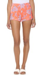 Bb Dakota Thea Floral Jacquard Shorts Creamsicle