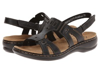 Clarks Leisa Annual Black Leather Women's Sandals