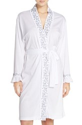 Eileen West Women's Embroidered Jersey Robe