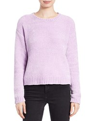 Lord And Taylor Boxy Chenille Pullover Orchid Bloom