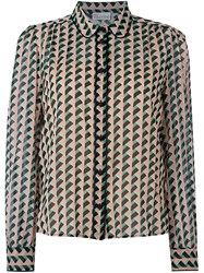 Red Valentino Geometric Print Shirt Multicolour