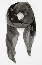 John Varvatos Men's Collection Flag Print Scarf
