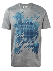 Brioni Graphic Logo Print T Shirt Grey