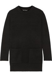 Proenza Schouler Ribbed Wool And Cashmere Blend Sweater Black