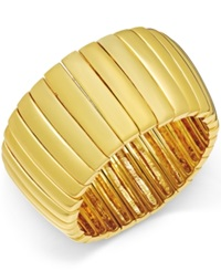 Abs By Allen Schwartz Gold Tone Bar Stretch Bracelet