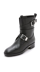Alexander Wang Louise Motorcycle Boots Black