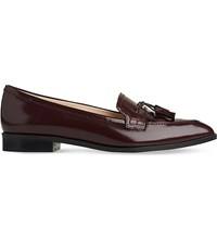 Lk Bennett Ellenor Patent Leather Loafers Red Truffle