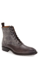 Mezlan Men's 'Grimaldi' Medallion Toe Fabric Shaft Boot