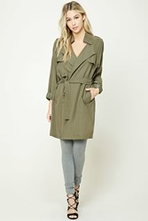 Forever 21 Notched Collar Wrap Jacket