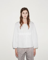 Ports 1961 Round Collar Blouse Optic White