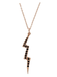 Andrea Fohrman Lightening Bolt Necklace Metallic