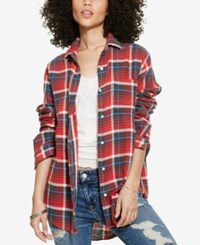 Denim And Supply Ralph Lauren Plaid Boyfriend Shirt Warwick Plaid
