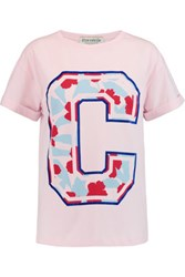 Etre Cecile Big C Printed Cotton Jersey T Shirt Baby Pink