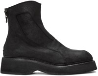 Julius Black Suede Zip Boots