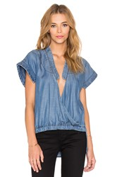 Sass And Bide Love And Revolution Top Blue
