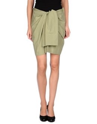 Cacharel Knee Length Skirts Military Green