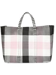 Truss Nyc Large Checked Tote Black
