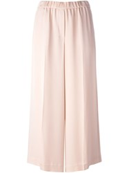Theory High Waist Cropped Trousers Pink And Purple