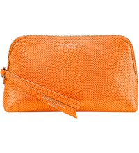 Aspinal Of London Essential Leather Cosmetic Case Orange