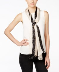 Vince Camuto Tangier Treasure Silk Oblong Scarf Grey Sconce