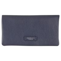 Radley Tetbury Large Leather Matinee Purse Navy