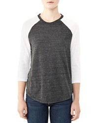 Alternative Apparel Baseball Tee Eco Black