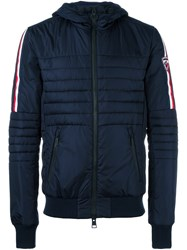 Rossignol Contrast Stripe Sleeve Padded Jacket Blue