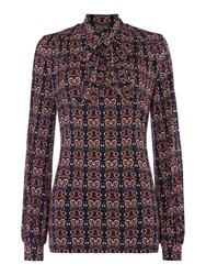 Therapy Paisley Pussybow Blouse Multi Coloured