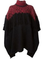 Marcelo Burlon County Of Milan Fringed Roll Neck Poncho