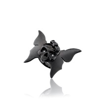 Sheeva Butterfly Skull Ring Black