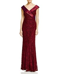 Decode 1.8 V Neck Lace Gown Dark Red