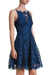 Dress The Population Women's 'Hayden' Crochet Lace Fit And Flare