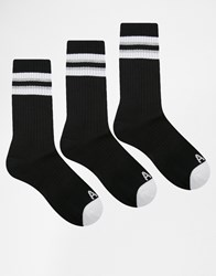 Abercrombie And Fitch Crew Socks 3 Pack Black
