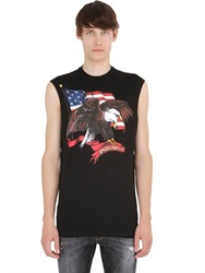 Dsquared2 Icon Sleeveless Printed Cotton T Shirt