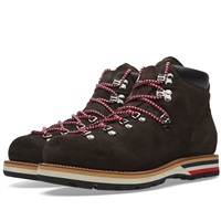 Moncler Suede Peak Boot Dark Brown