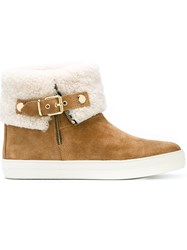 Burberry Buckled Ankle Boots Nude And Neutrals