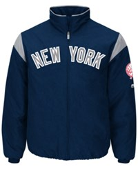 Majestic Men's New York Yankees On Field Thermal Jacket Navy White
