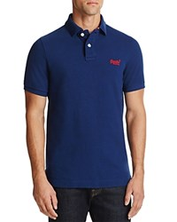 Superdry Pique Classic Fit Polo Shirt Boston Blue