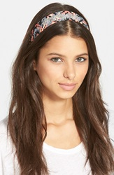 Berry 'Ms. Summers' Head Wrap Navy White