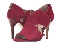 Adrienne Vittadini Gerlinda Ruby Kid Suede Women's Shoes Red