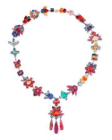 Irene Neuwirth One Of A Kind Necklace With Drop Pendant Multi