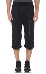 Y 3 Sport Men's Tech Taffeta Crop Pants Black