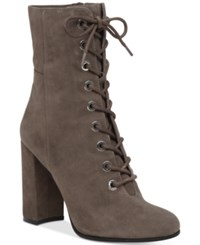 Vince Camuto Teisha Lace Up Booties Women's Shoes Forest Grey