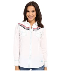Ariat Judy Snap Shirt White Women's Long Sleeve Pullover