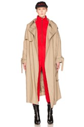 Vetements Oversized Trench In Neutrals