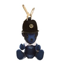 Burberry Shoes And Accessories Thomas Check Police Bear Keyring Female Purple