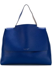 Orciani Large Classic Tote Blue